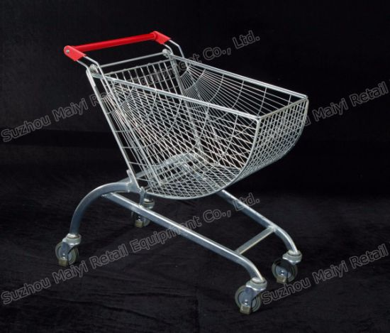 New Smart Supermarket Shopping Cart Curved Shopping Cart pictures & photos