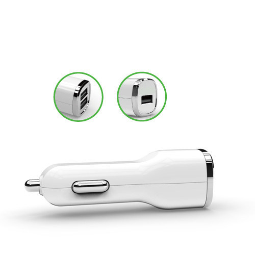 LED Logo Dual USB Charger 3.4A Car Charger with Ce/RoHS/FCC pictures & photos