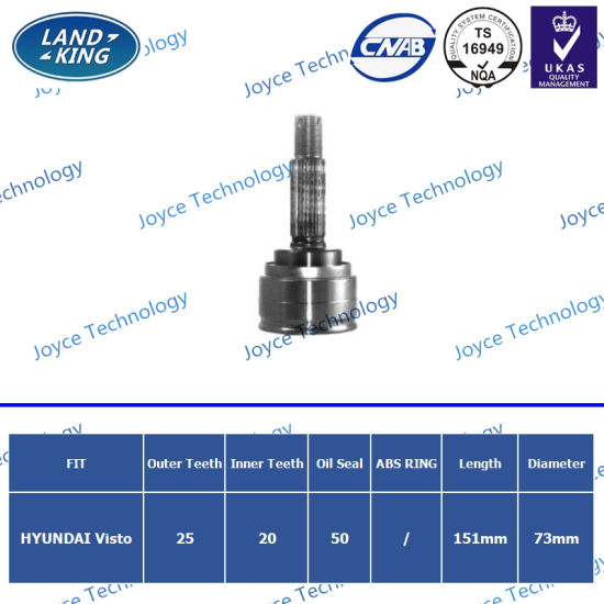 OEM Auto Spare Parts Outer CV Joint Hy-806 for Hyundai Visto