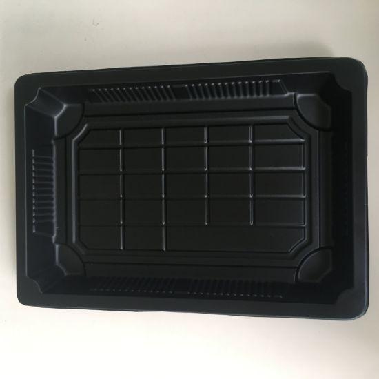 Disposable Biodegradable Corn Starch Plastic Sushi Trays pictures & photos