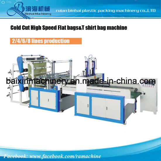 Shopping Handle Bag Making Machine T Shirt Bags& Flat Bags pictures & photos