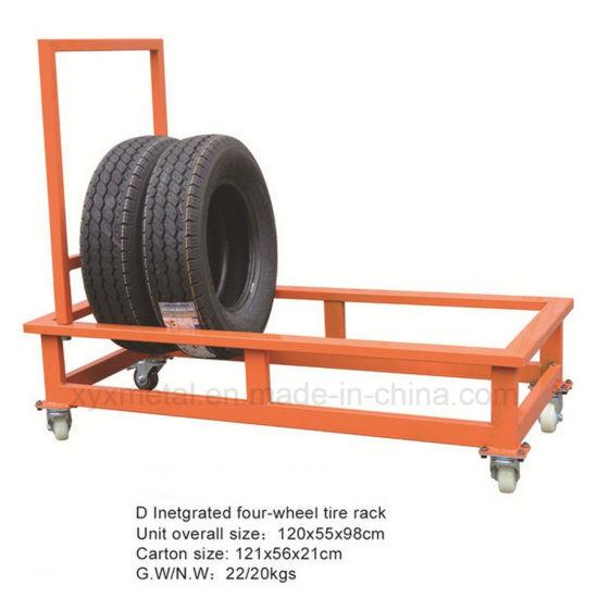 Tire Warehouse Trolley Wheels Tyre Display Cart Roll Pallet Hand Truck