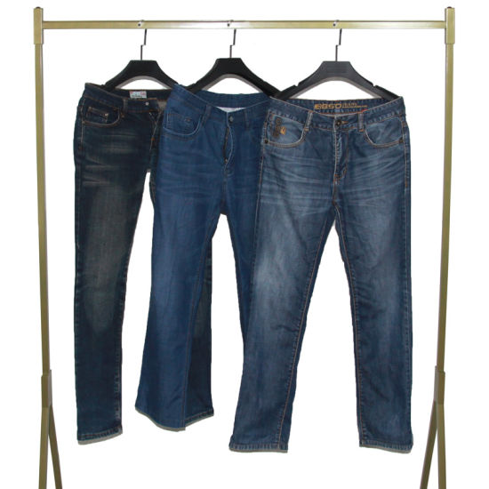 Bulk First-Tier-Cities Sourced Men Jeans Pants Used Clothes in Bales