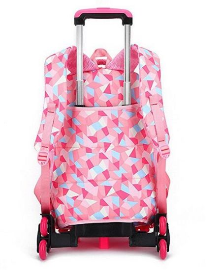 3d38c75f753b [Hot Item] Geometric Figure Kids Rolling Carry on Luggage School Backpack  Trolley Bag