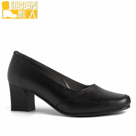 Italy Style Good Quality Police Leather Women Office Shoes pictures & photos