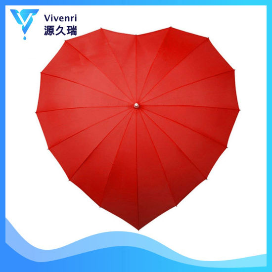Chinese Characteristics Red Heart Girl Umbrella Valentine's Day Wedding Engagement
