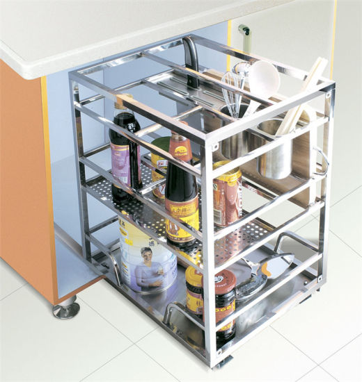 New Design Kitchen Accessories Stainless Steel Pull Out Basket 202