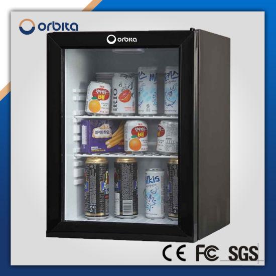 China Orbita Hotel Mini Bar Portable Fridge Freezer Glass Door