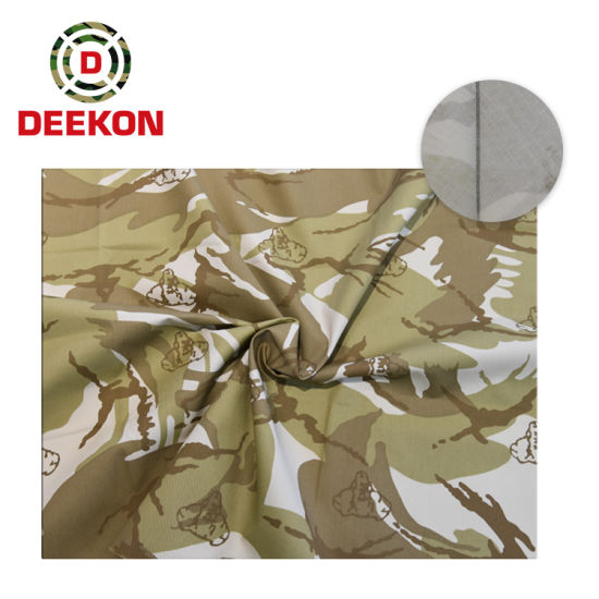 Iraq 4-Color Desert Dpm Plain Camouflage Fabric for Military Jacket
