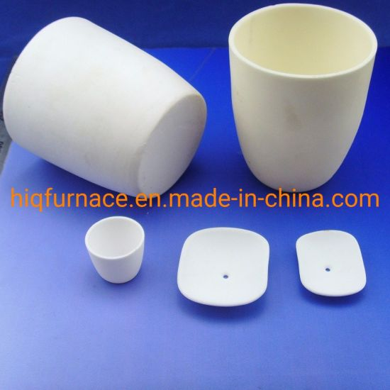 High Temperature Resistance Ceramic Tray Alumina Ceramic Boat Crucible, Advanced Ceramics Cylindrical Refractory Melting Ceramic Boat Crucible