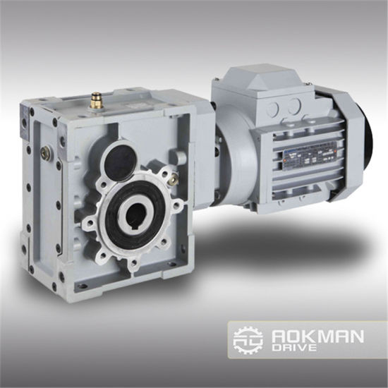 High Efficiency Km Hypoid Worm Gearbox pictures & photos