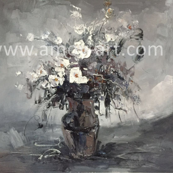 Black and white flower oil paintings for home decoration black and white flower oil paintings for home decoration mightylinksfo