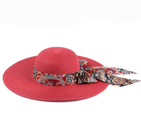 Various Colors Lady Sunshade Straw Hats Wholesale