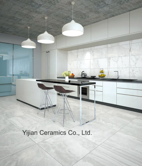 800X800 Factory Glossy Porcelain Floor Marble Look Tile (3-8A050)