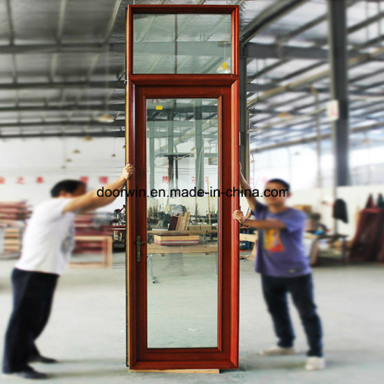 Solid Timber Aluminum Patio Glass Door, Top Quality Thermal Break Aluminium Door with Double Glazing Glass