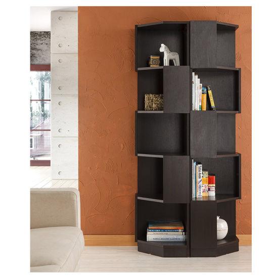 China Modern Livingroom Wooden Corner 5 Shelf Bookcase Display Stand China Wooden Bookcase Bookshelf Display Bookshelf