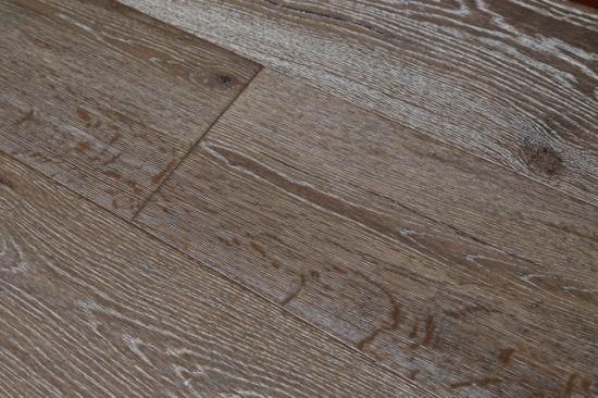 China Dark Color Eu Oak Engineered Wood Flooring With Less