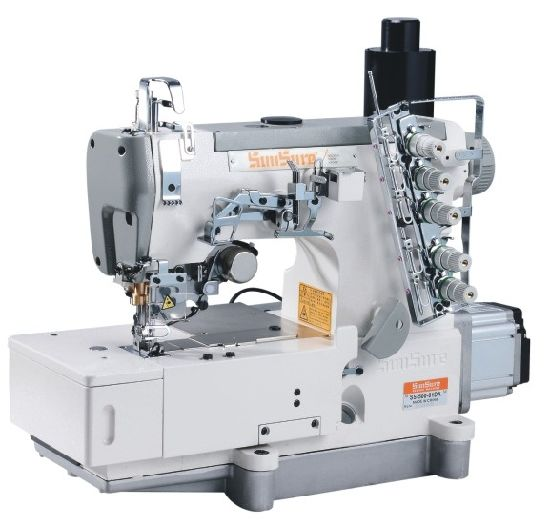 Direct Drive High-Speed Interlock Sewing Machine with Auto Trimmer
