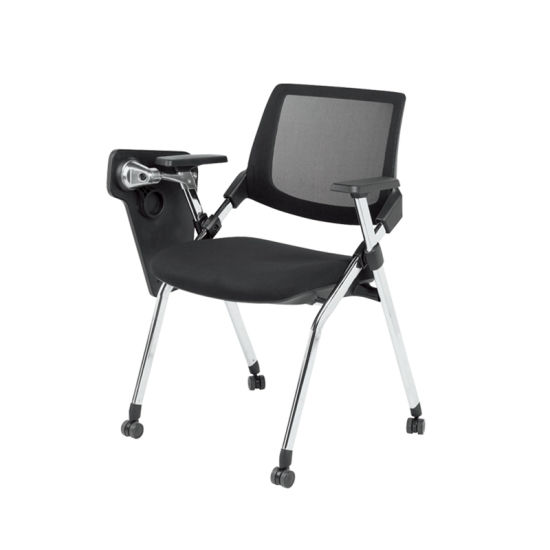 Office Plastic Mesh Conference Training Chair with Writing Table (FS-2020) pictures & photos