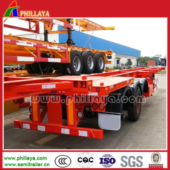 3 Axles Heavy Duty 40FT Container Semi Truck Trailer Chassis pictures & photos