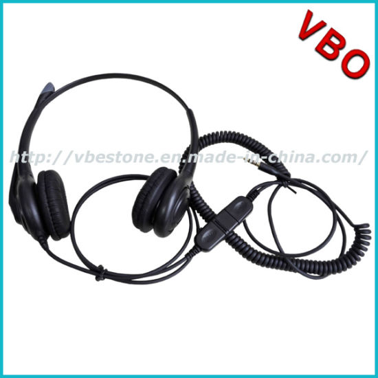 a66ca91ef90 3.5mm Connector Call Center Telephone Headset with Noise Cancelling  Microphone pictures & photos