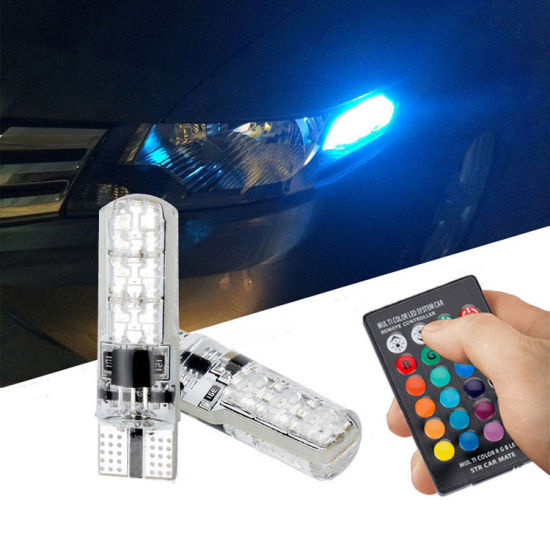 China T10 5050 6SMD RGB with Remote Control Multi Colors Changing ...