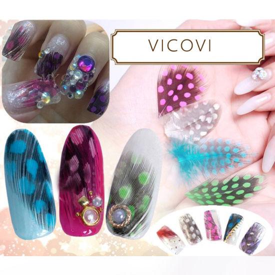 China Natural Feather 3d Nail Art For Nail Beauty Care Fashion