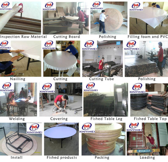 Chinese Wholesale Round Banquet Metal Table pictures & photos