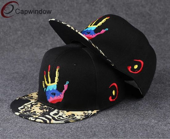 1a1461f5f48 Embroidered Snapback Hat with Sublimation Printing on Brim pictures   photos