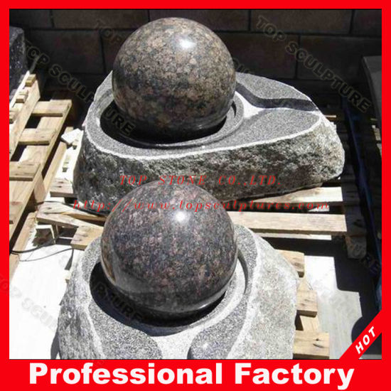 China Baltic Brown Granite Stone Ball Fountain For Garden Square Beauteous Stone Ball Garden Decoration
