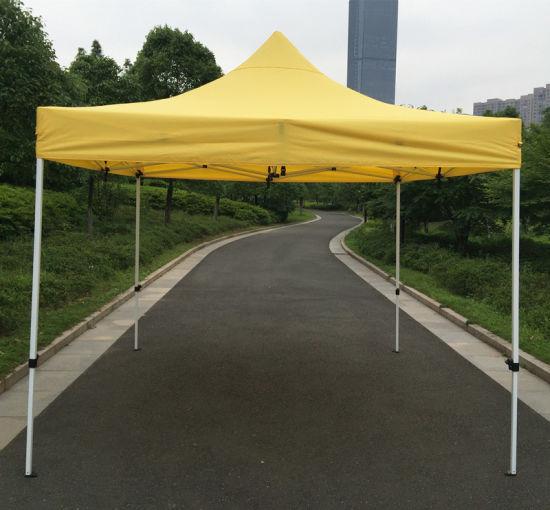 3X3m Yellow Outdoor Steel Pop up Tent Folding Gazebo & China 3X3m Yellow Outdoor Steel Pop up Tent Folding Gazebo - China ...