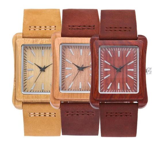 a99ae9e54 Wooden Watch Men Bamboo Novel Modern Fashion Sport Women Clock Nature Wood  Quartz Wristwatches Genuine Leather