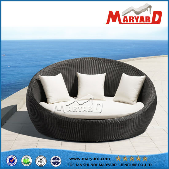 China Resin Rattan Garden Furniture Sofa Bed Round Bed China Sofa