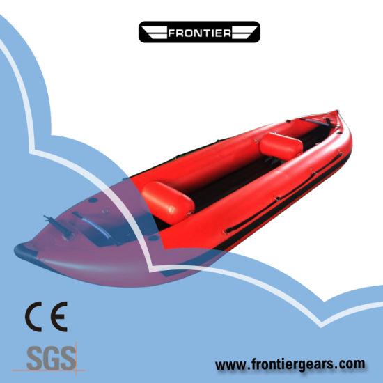Folding PVC Hypalon Canoe Inflatable Sea Pedal Kayak for Fishing