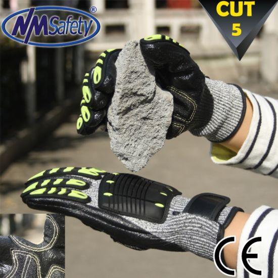 Nmsafety Cut and Impact Resistant Hand Protection Safety Gloves pictures & photos