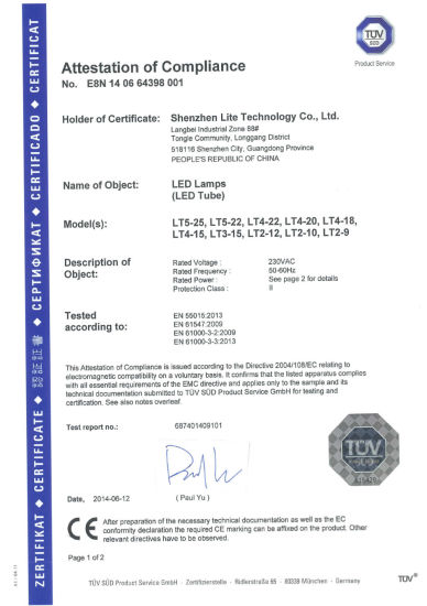TUV Certificated LED Light Pipe LED T8 pictures & photos