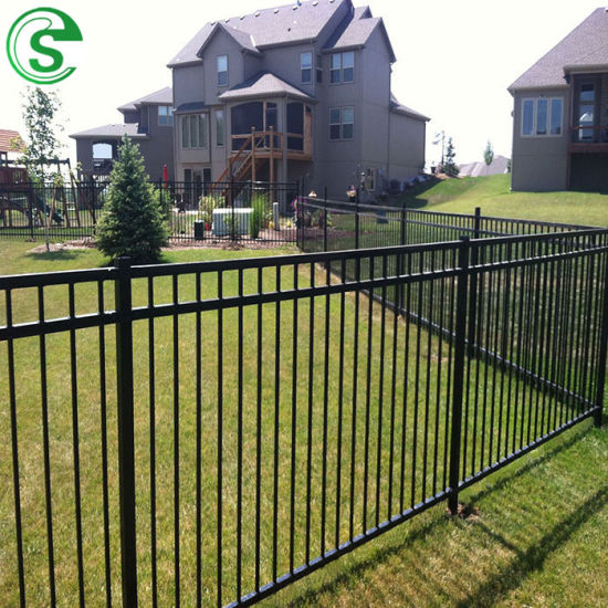 Decorative Iron Fencing Crimped Spear Tubular Fence for Residential