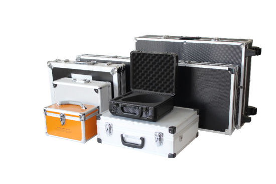 Logo Print Universal OEM Carrying Leather Suitcase with Compartments/ Foam Inside