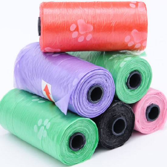 Wholesale Colorful Pets Waste Bags for Walking Dog Trash Bags