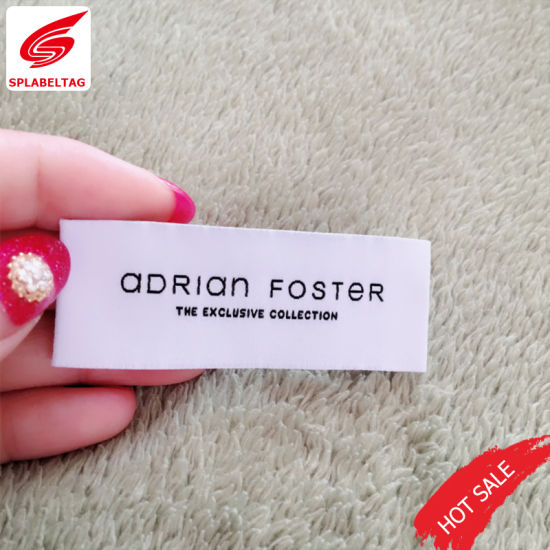 Eco-Friendly Customized Garment Woven Clothing Label for Garment Bag