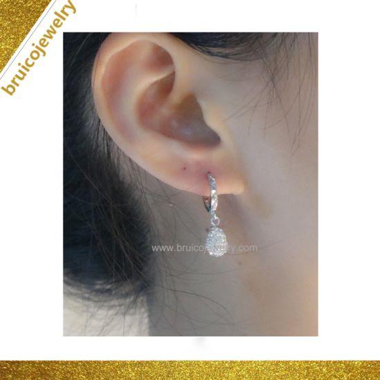 14f286174 Fashion Sterling Silver Cubic Zirconia Factory 14K Gold Earring Jewelry for  Women