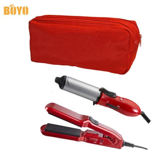 Mini Hair Straightener Curler Set