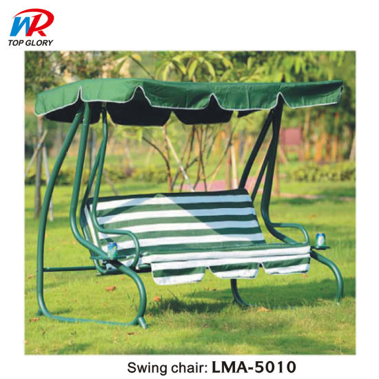 Outdoor Metal Chaise Garden Balcony Rattan Lounge Hanging Chair Patio Wicker Swing Chair