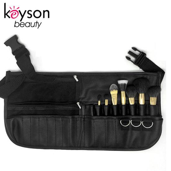 Custom Color Leather Make up Brush Holder Belt Bag with Waist Strap