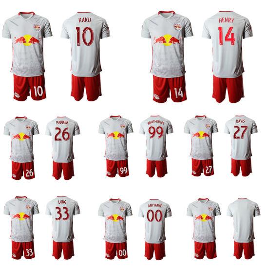 5044462df26 China 2019 New York Red Soccer Jersey Wright-Phillips Kaku Football ...