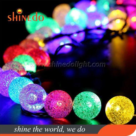 Motif Christmas Lights Solar Powered Fairy String Lights for Outdoor Indoor Garden Wedding Decoration