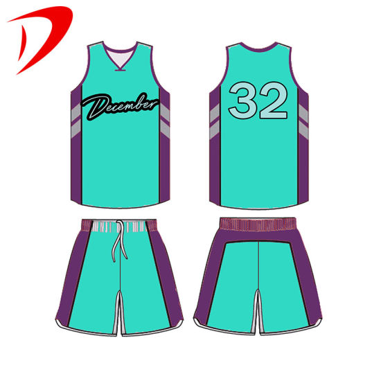 Basketball Jersey 100% Polyester Fabric Sports Cheap Wear Sublimation