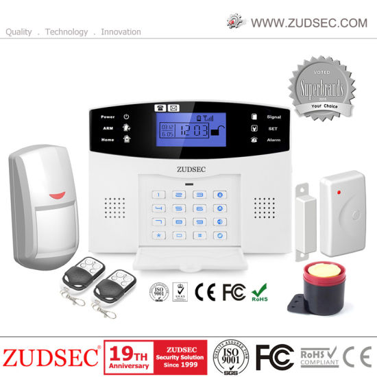 Voiced LCD Display PSTN GSM Alarm System