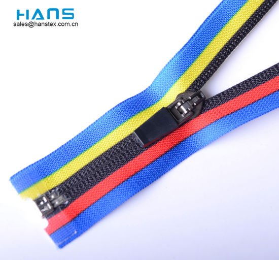 Hans Factory Direct Sale Mixed Colors Waterproof Nylon Printed Zipper pictures & photos