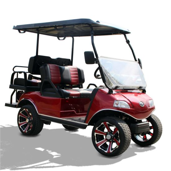 4 Seats Hunting Golf Cart Electric Car with Foldable Seat